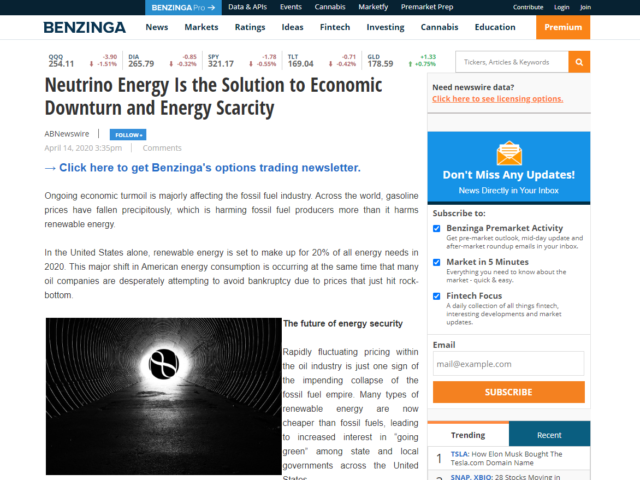neutrino-energy-solution